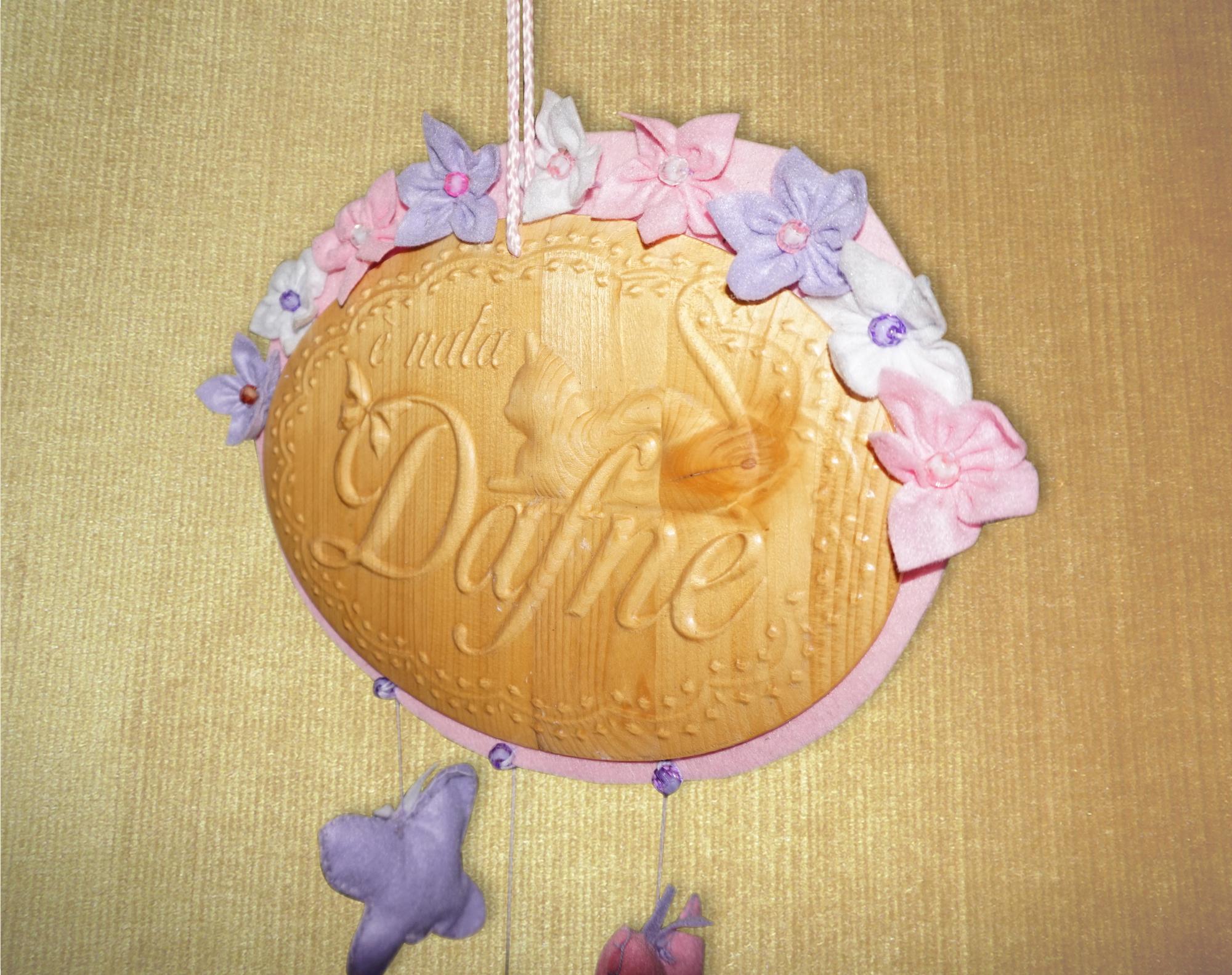 Targa ovale per nascita con nome personalizzato – Arti & Inventive