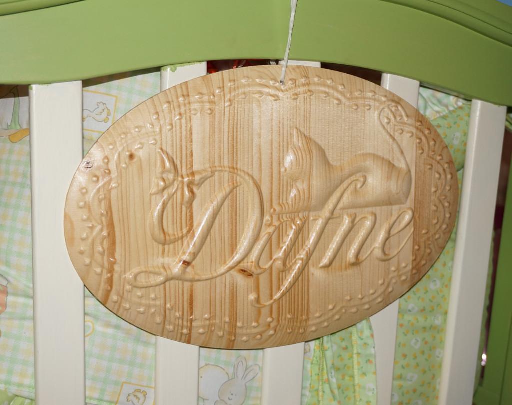 Targa ovale per culla con nome personalizzato – Arti & Inventive
