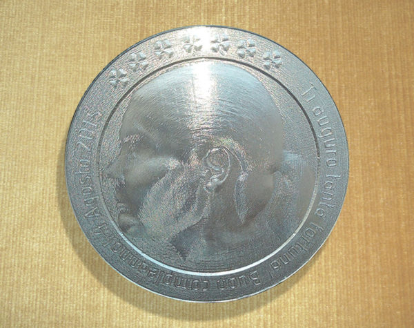 Moneta con immagine personalizzata 3d