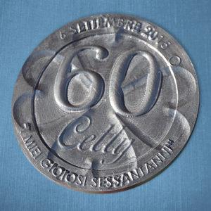 Moneta quadrifoglio personalizzata