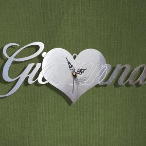 Orologio cuore con scritta personalizzata 3d