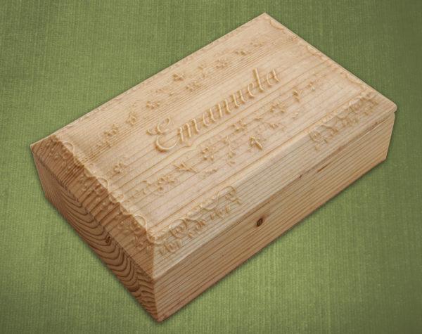 Portagioie rettangolare con scritte personalizzate
