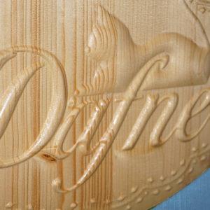 Targa ovale per culla con nome personalizzato