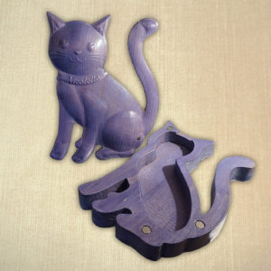Salvadanaio e portagioie gatto con nome personalizzato