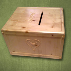 Scatola matrimonio/nozze porta buste regalo scolpita in 3d