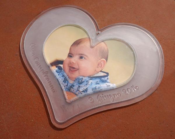 Portafoto cuore personalizzato in plexiglass