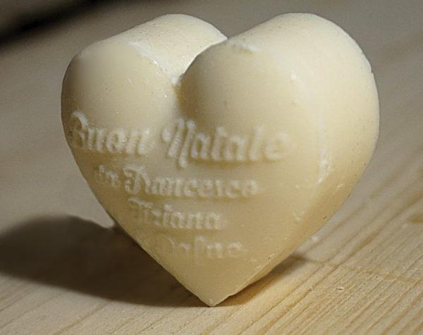 Sapone a forma di cuore personalizzato