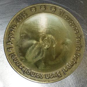 Moneta in ottone con immagine personalizzata 3d