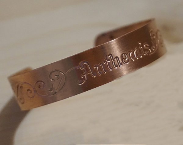 customized copper bracelet
