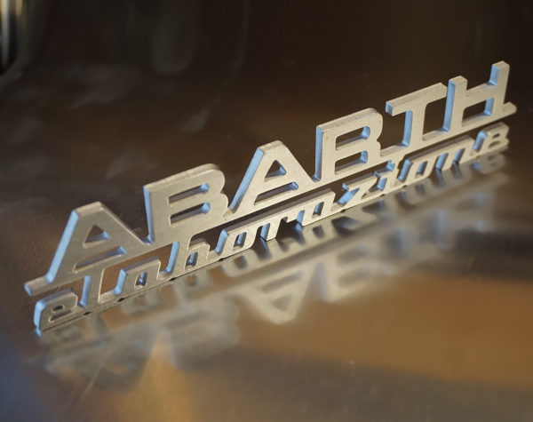 Abarth elaborazione aluminum logo