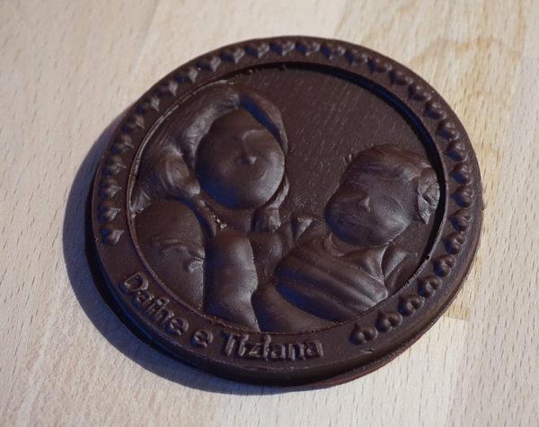 Stampo per dolci soldino con ritratto 3d