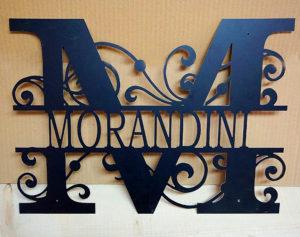 Monogramma personalizzato in metallo